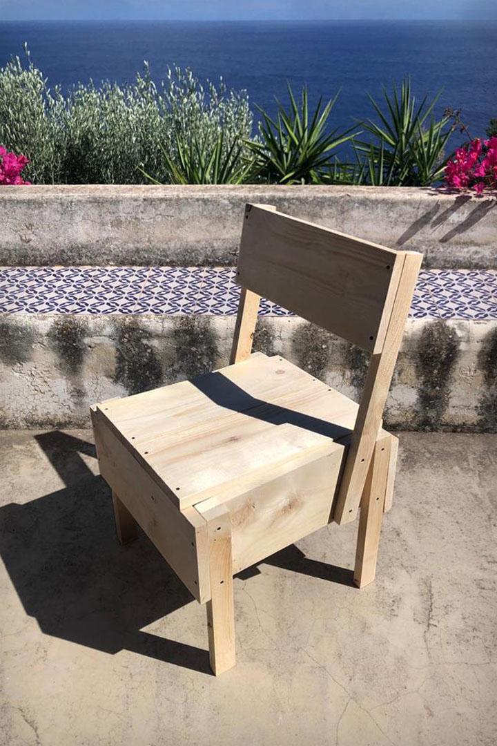 Miocugino Sedia 1123xP Enzo Mari Studio Franco Raggi Filicudi