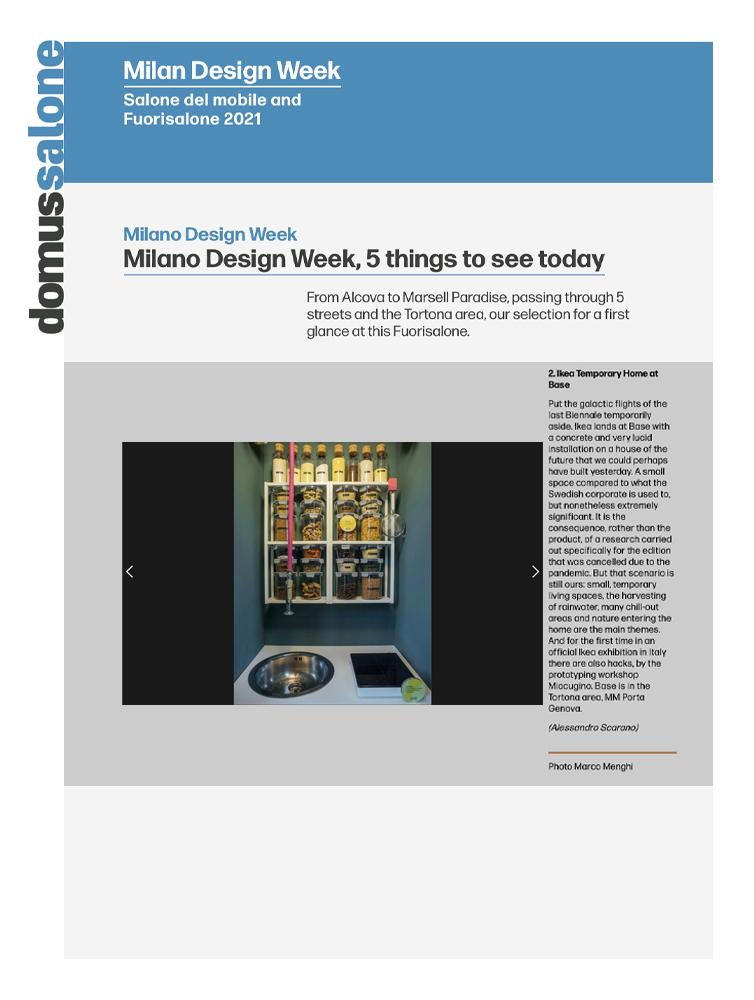Miocugino IKEA Milano Design Week 2021 Press Domus