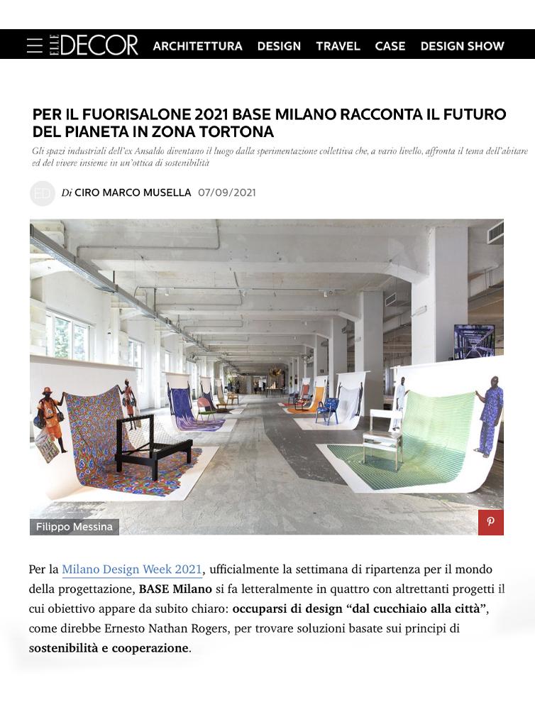 Miocugino IKEA Milano Design Week 2021 Press Elle Decor
